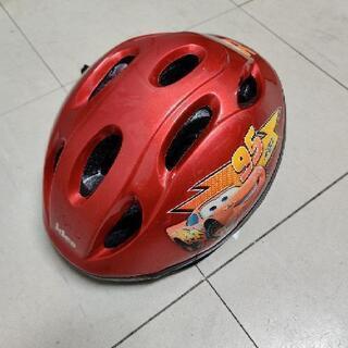 【ネット決済】幼児用 自転車 ヘルメット カーズ メタリックレッド