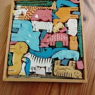 木製 動物パズル