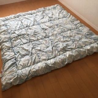 合繊入り 羊毛掛け布団 西川リビング 日本製 ダブル 19…
