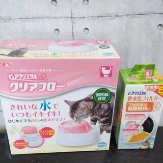 GEXピュアクリスタル クリアフロー 猫用+軟水化フィルタ…