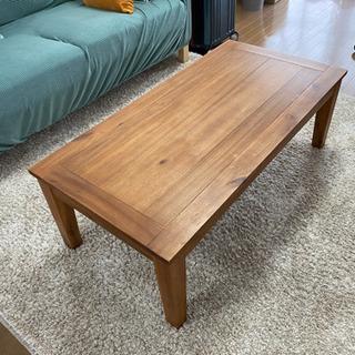 シンプルな木のローテーブル
