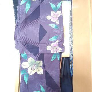 紫色系上品な百合柄浴衣!