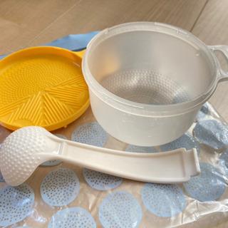 離乳食セット(炊飯器でおかゆ、スプーン、お皿、保存容器)