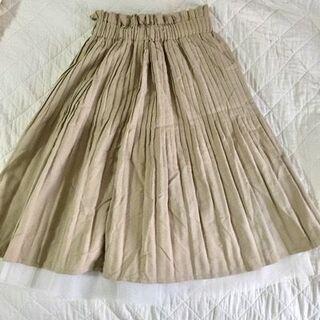 レディースフレアープリーツスカート