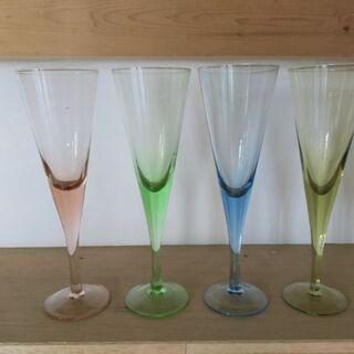 ワイン、シャンパングラス4本