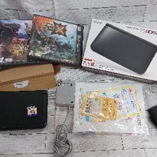 3DS LL ブラック本体 モンハン系ソフト 3本セット