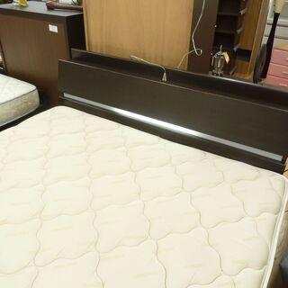 ワイドダブルベッド☆k218☆フランスベッド☆幅1600㎜☆コンセント・収納・照明付き☆近隣配達、設置可能 - 売ります・あげます