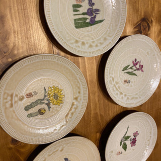 レトロな皿 9枚