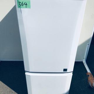 364番 三菱✨ノンフロン冷凍冷蔵庫✨MR-P15EY-K…
