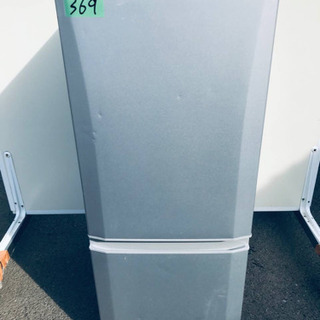 369番 三菱✨ノンフロン冷凍冷蔵庫✨MR-P15Z-S1…