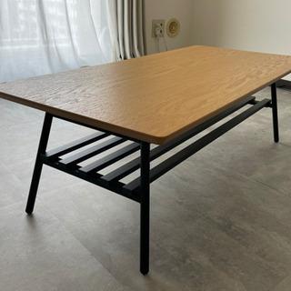 【ネット決済】【美品】アイアン×ウッド 折り畳みセンターテーブル