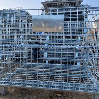 折り畳み式新中古ワイヤーメッシュコンテナ、鉄カーゴ、運搬、…
