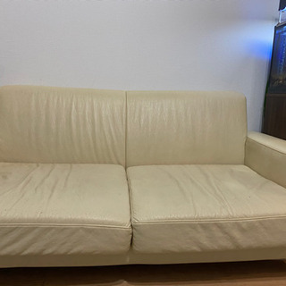 4月19日取引限定 無料 白いソファー