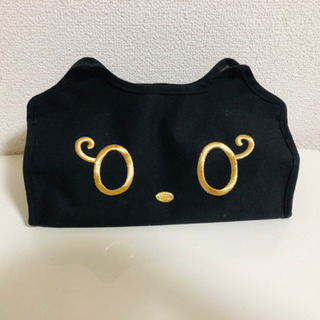黒猫のティッシュケース