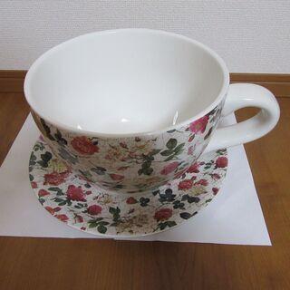 陶器 コーヒーカップ型植木鉢