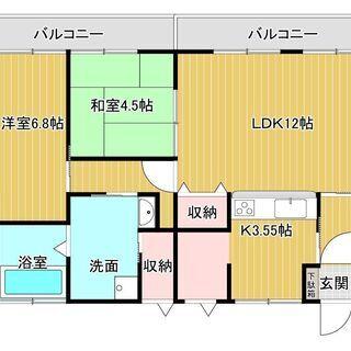 御幸マンション101号 2LDK【6.5万円】ペット可、LDKは...
