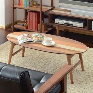 ■オーバルテーブル 折りたたみx4種の天然木■bbf-0460