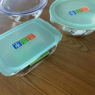 【新品】パイレックスガラス容器(蓋付)