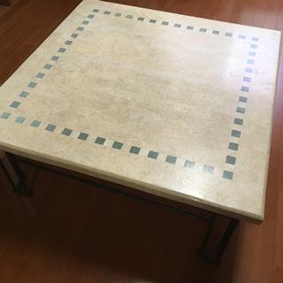【価格改訂】テーブル【天板→石、脚→鋼鉄】90×90㎝