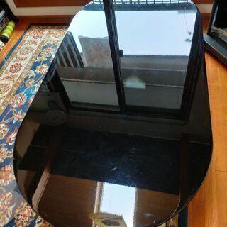 超大型です!!レアな黒檀風のテーブルです!! ガラスカバー…