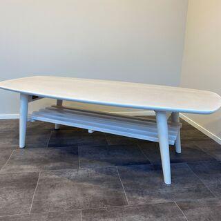 リビングテーブル センターテーブル ホワイト リビング家具 中古品