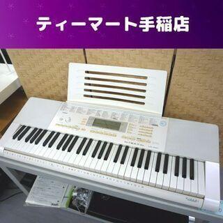 カシオ 光ナビゲーション 電子キーボード 61鍵盤 動作品…