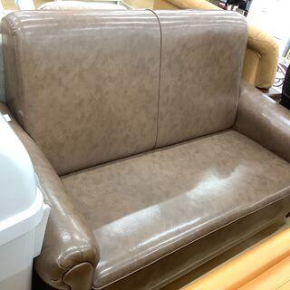 シックなデザインのハイバック2人掛けソファです!