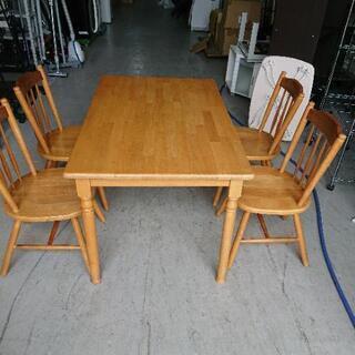 木製ダイニングテーブルセット