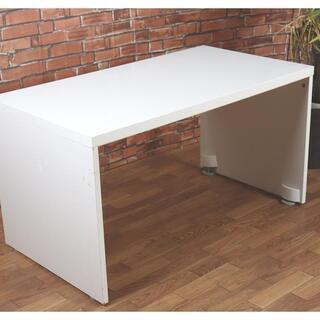 センターテーブル ホワイト 広々としたパソコンデスク 座卓ローテーブル