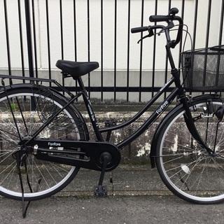 <動作・美品車>26インチ自転車・ブラック