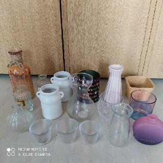 花瓶 一輪挿し ガラスポット など