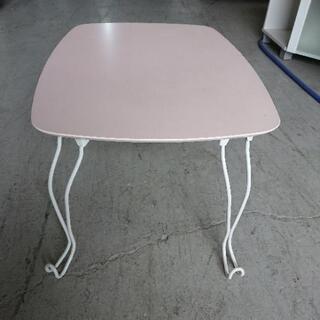 折り畳み机(薄ピンク)