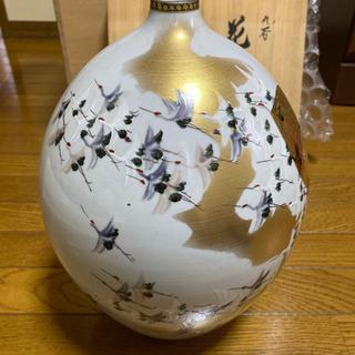 【ネット決済】九谷焼 花瓶 高明(たかあきら)作 新品未使用
