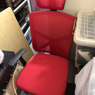 事務椅子 オフィス椅子 メッシュ製 赤