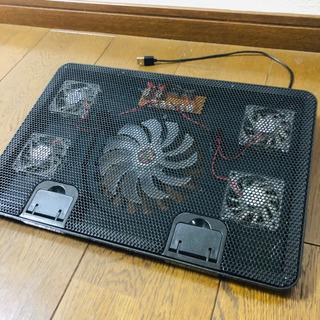 ノートPC クーラー 5ファン LED