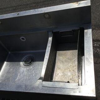 ステンレス 3槽シンク台 業務用 本体(H95cm 80cm W200cm D60cm) 厨房 店舗 - その他