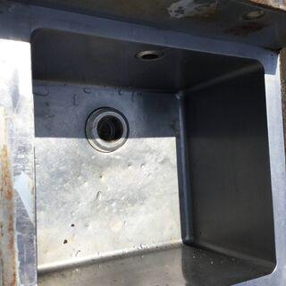 ステンレス 1槽シンク台 流し台 業務用 店舗 厨房 本体(H95cm 85cm W60cm D60cm) - 福井市
