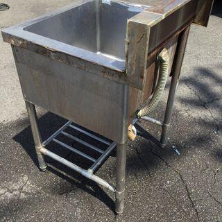 ステンレス 1槽シンク台 流し台 業務用 店舗 厨房 本体(H95cm 85cm W60cm D60cm) - その他