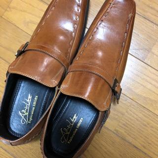 未使用、保管品革靴