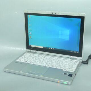 送料無料 中古良品 軽量モバイル ノートパソコン 10.1型 Panasonic CF-RZ4ADKCS CoreM 8GB SSD-128GB 無線 カメラ Windows10 LibreOfficeの画像