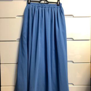 ブルーが爽やか♡ ロングスカート マキシスカート プリーツスカート