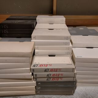 中古VHSビデオテープ106本(ジャンク)