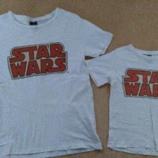 親子お揃い GUのSTAR WARSのTシャツセット