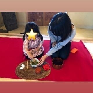 やかまし村ギャラリー 親子茶道体験❣️夏休み親子で🍉