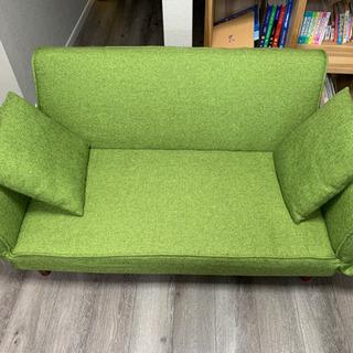 ☆かわいいグリーン♪ ソファーベッド☆きれいです!