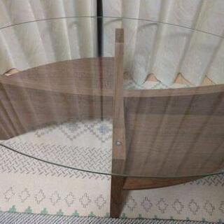 ガラス ローテーブル  オーバルテーブル 東谷 (AZUMAYA)LE-454WAL - 家具