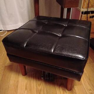 【超美品】岩附 オットマン 足置き スツール 椅子 1人掛…