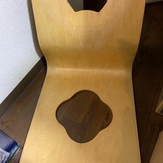 木製座椅子 の画像