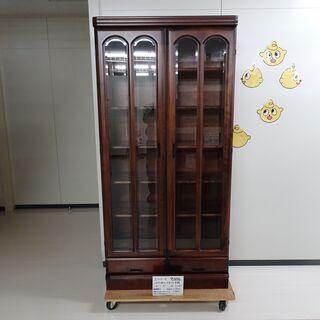 ガラス扉付・引出付本棚(R304-18)