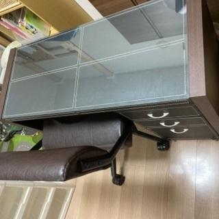 【ネット決済】(受付終了)【2000円】書斎用机・サイドチェスト・椅子